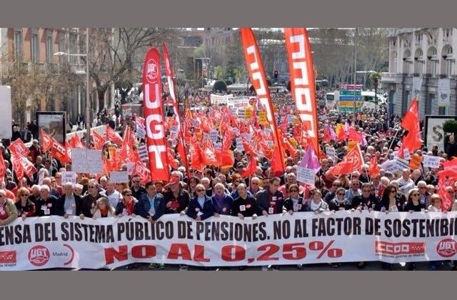 La ciudadanía reclama en las calles #PensionesDignas – 15/04/2018 – www.jubiladosugt.org