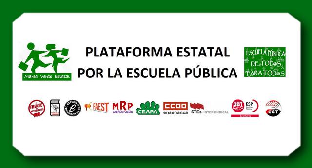 Plataforma por la Escuela Pública: movilización el 8 de mayo