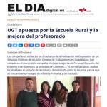 UGT apuesta por la Escuela Rural y la mejora del profesorado