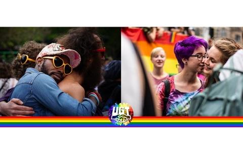 17 de mayo, Día Internacional contra la LGTBIfobia – UGT hace un llamamiento al voto para detener el discurso de odio, el machismo y la LGTBIfobia.