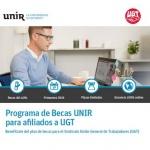 NUEVO PROGRAMA BECAS UNIR (Universidad Internacional de la Rioja) PARA AFILIADOS/AS y FAMILIARES. Descuentos adicionales.