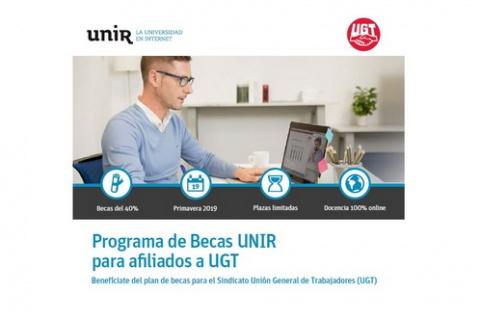 PROGRAMA BECAS UNIR (Universidad Internacional de la Rioja) PARA AFILIADOS/AS A FeSP-UGT (OTOÑO 2019)