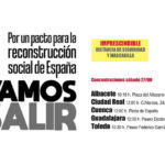 Por un pacto para la reconstrucción social de España. Concentraciones sábado 27 de junio. #VamosASalir a reconstruir un nuevo país que no deje a nadie atrás.