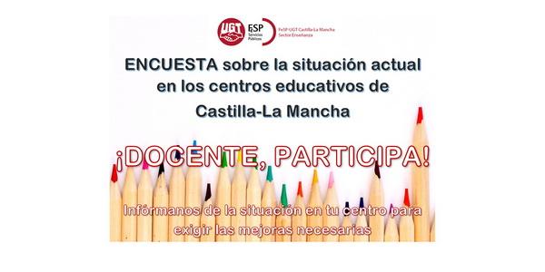 ENCUESTA sobre la situación actual en los centros educativos de Castilla-La Mancha