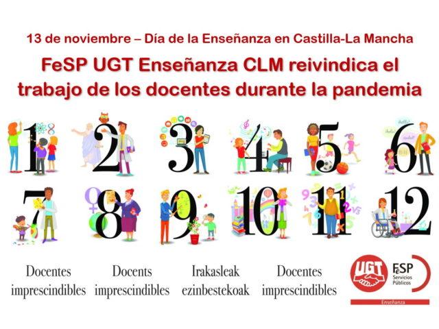En el Día de la Enseñanza, FeSP UGT Enseñanza CLM reivindica el trabajo de los docentes durante la pandemia