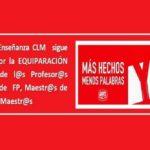 FeSP UGT Enseñanza CLM sigue trabajando por la EQUIPARACIÓN SALARIAL de los cuerpos de Profesores Técnicos de FP, Maestros y Maestros de AAPP y Diseño