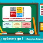 #UGToposicionesEEMMclm2021 – OPOSICIONES EEMM CLM 2021 – ASAMBLEAS INFORMATIVAS ONLINE abiertas a todo el profesorado.