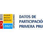 #UGToposicionesEEMMclm2021 – PRIMERA PRUEBA: datos de participación por especialidades