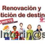ÚLTIMA HORA – RENOVACIÓN DE INTERINIDAD y PETICIÓN DE DESTINOS (especialidades no convocadas): El lunes 14 se publicará la convocatoria.