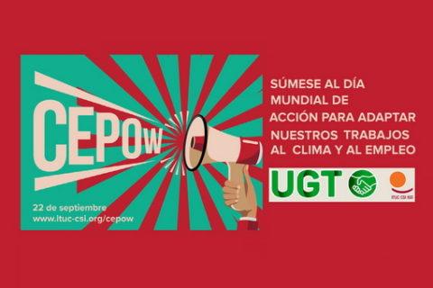 UGT anima a participar en el Día Mundial de Acción Climática en los Centros de Trabajo